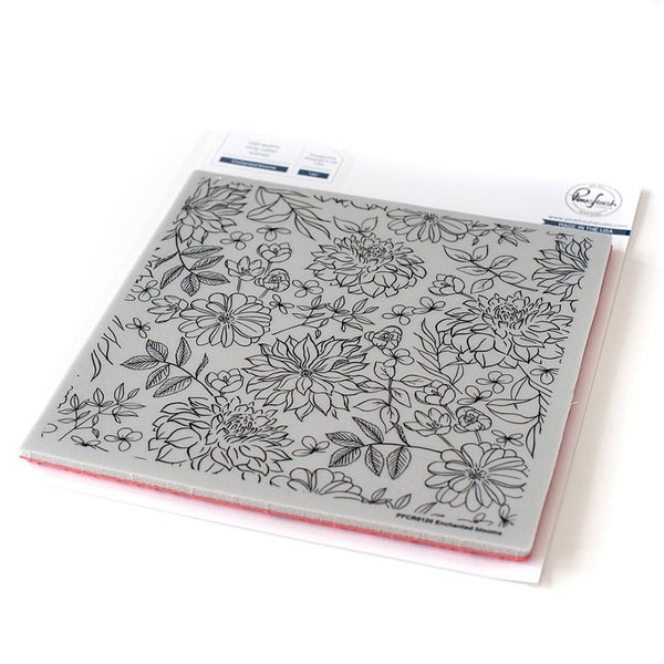 Pinkfresh Studio Cling Mounted Rubber Stamp Enchanted Blooms