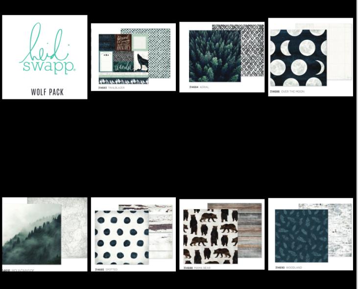 Heidi Swapp Wolf Pack 14 Paper Pack