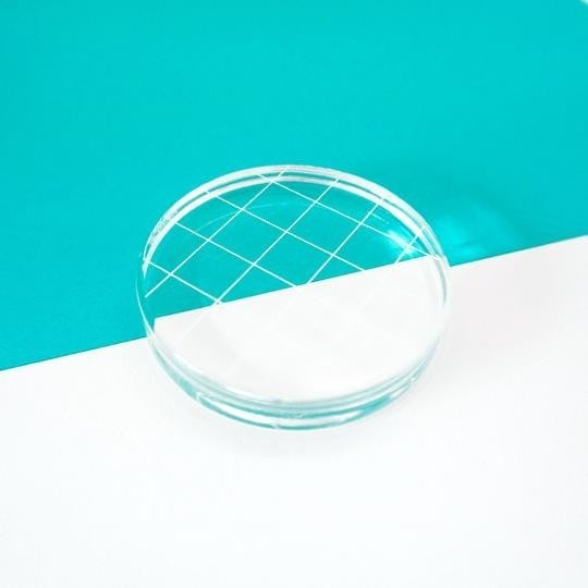 "Catherine Pooler 2-3/4"" Round Acrylic Grid Stamping Block"