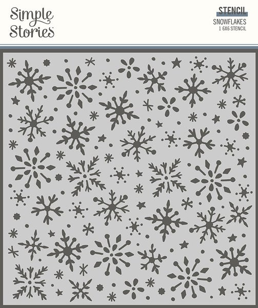 Simple Stories Snowflakes 6 x 6 Stencil
