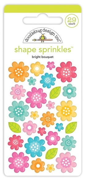 Doodlebug Design -Cute and Crafty Collection  Sprinkles  Bright Bouquet
