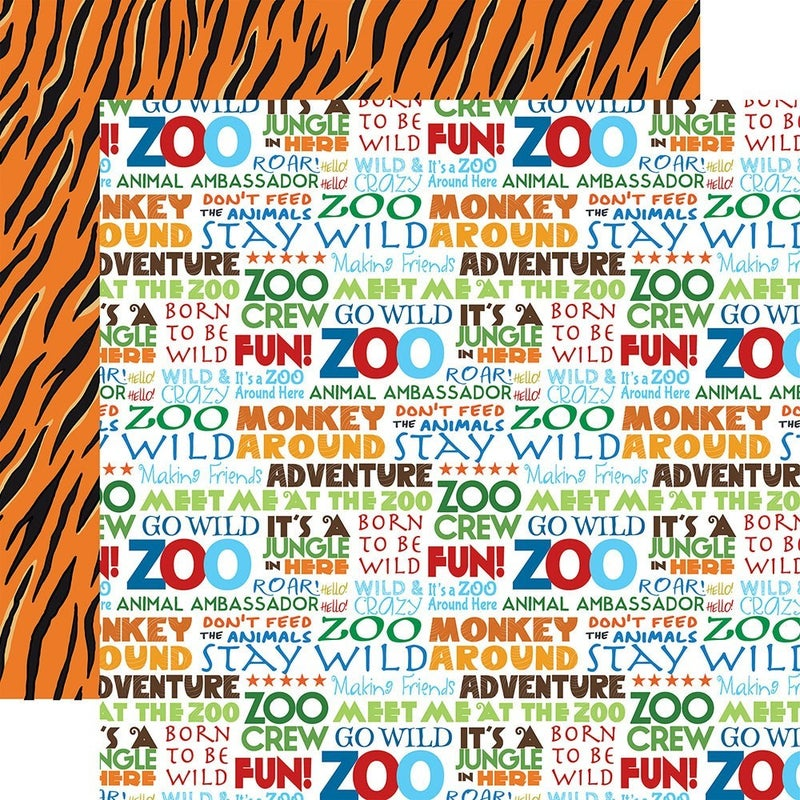 Carta Bella Zoo Adventure 4 pc set