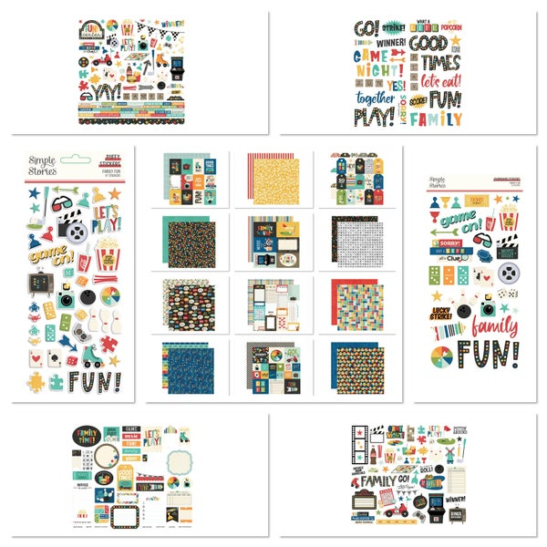 Simple Stories Family Fun 30 pc Happy Scrappy Bag