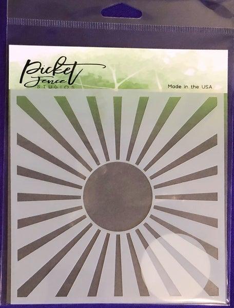 Picket Fence Sunbeam Stencil