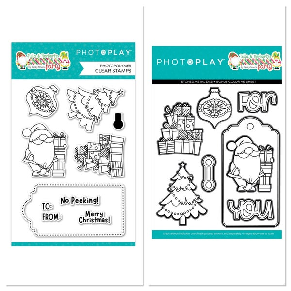Photoplay Tulla & Norbert's Christmas Party Christmas Morning  Stamp and Die Set