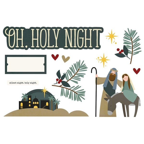 Simple Stories - Simple Pages  - Christmas - Page Pieces - Oh, Holy Night