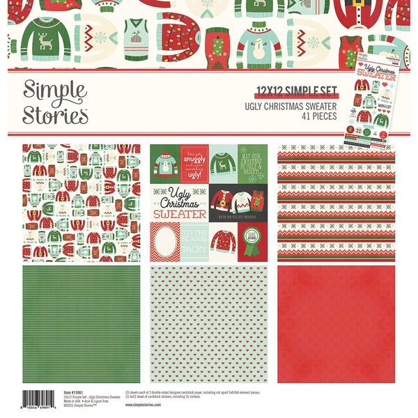 Simple Stories Ugly Christmas Sweater Collection  12 x 12 Collection Kit
