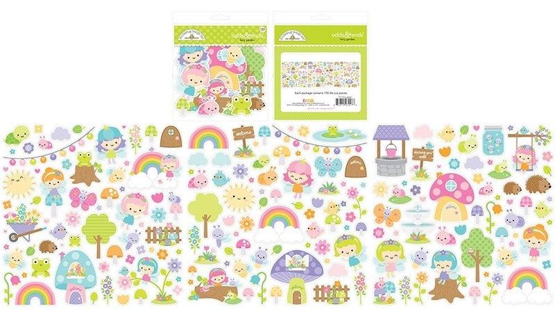 Doodlebug Design Fairy Garden 14 pc Happy Scrappy Bag