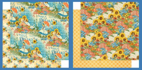 Graphic 45 Dreamland Sunflower 4 pc set