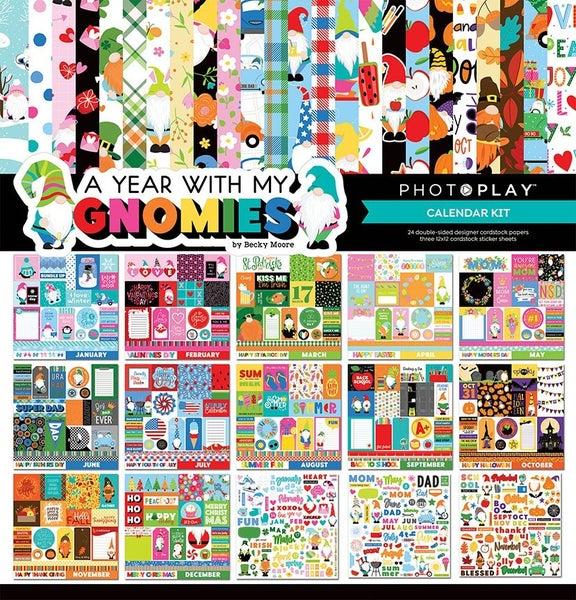 PhotoPlay  Gnome Calendar  12 x 12 Calendar Kit