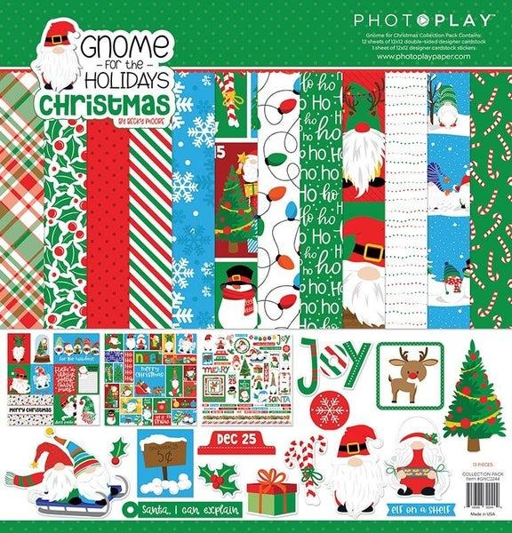 PhotoPlay Gnome for the Holidays Christmas 12 x 12 Kit