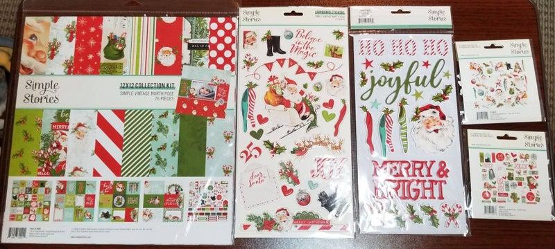 Simple Stories Simple Vintage North Pole 5 pc Happy Scrappy Bag