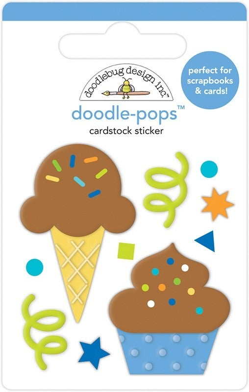 Doodlebug Design Cake and Ice Cream Party Time  Doodle-Pops