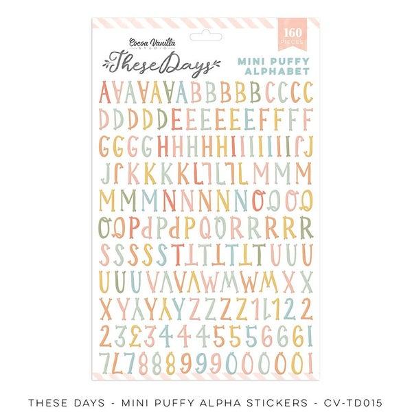 Cocoa Vanilla Studio THESE DAYS – MINI PUFFY ALPHA  Stickers