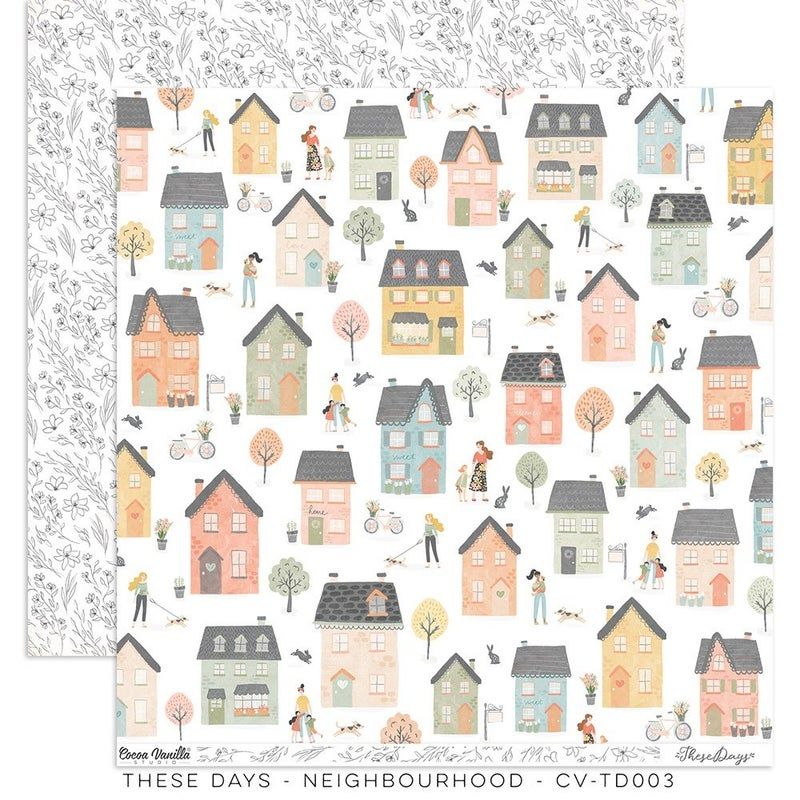 PRE ORDER Cocoa Vanilla Studio THESE DAYS – Neighborhood  12 x 12 Paper