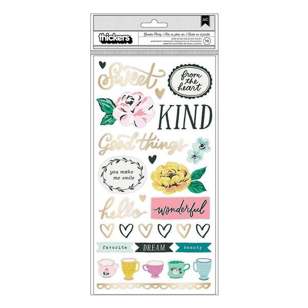Maggie Holmes  Garden Party Thickers  Lovely  Phrases and Icons  Gold Foil Accents