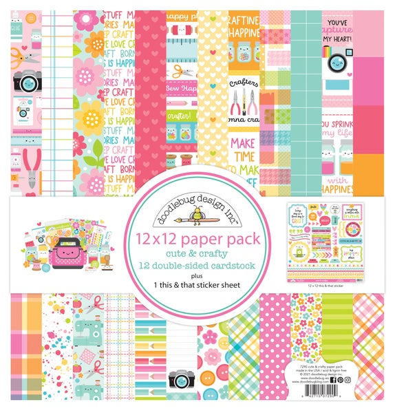 Doodlebug Design  Cute & Crafty 12 x 12 Paper Pack