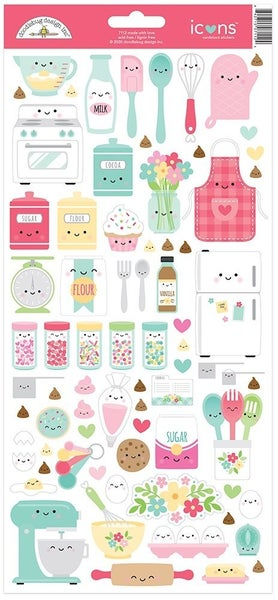 Doodlebug Design Made With Love Cardstock Stickers  Icons