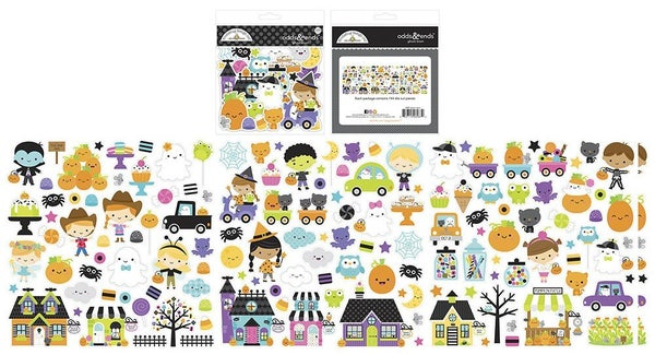 Doodlebug Design Ghost Town Odds and Ends  Die Cut Cardstock Pieces