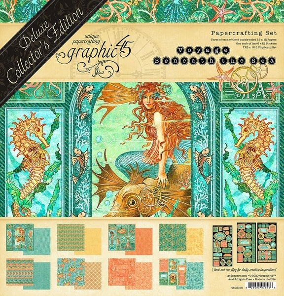 Graphic 45 Voyage Beneath the Sea 12 x 12 Deluxe Collector's Edition