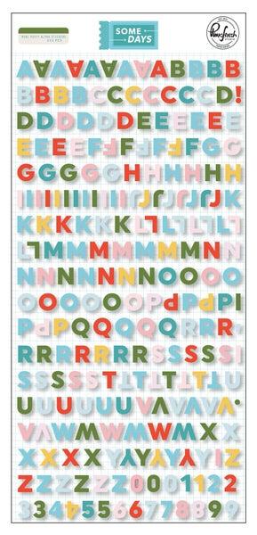 Pinkfresh Studio Some days: Mini Alphabet Stickers