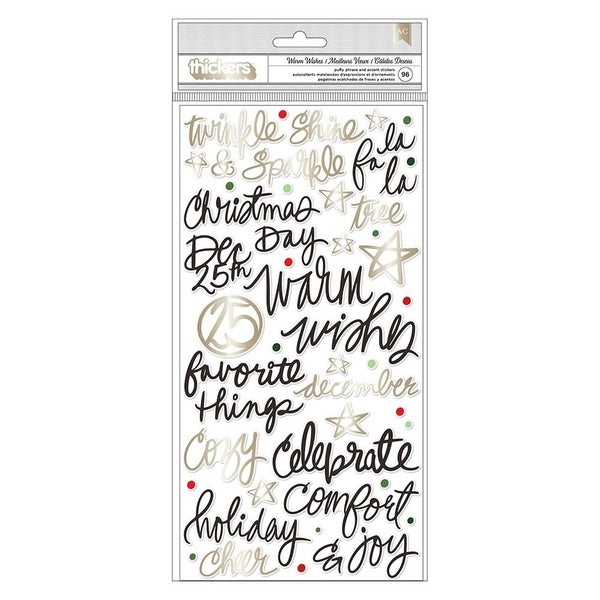 Vicki Boutin Warm Wishes Christmas Thickers  Phrases Champagne Gold Foil Accents