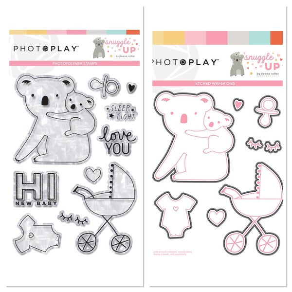 Photoplay Snuggle Up Girl Stamp and Die Set
