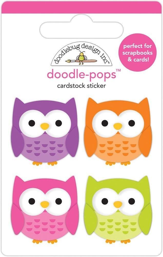 Doodlebug Design - Happy Haunting Doodle-Pops - Happy Owl-o-ween