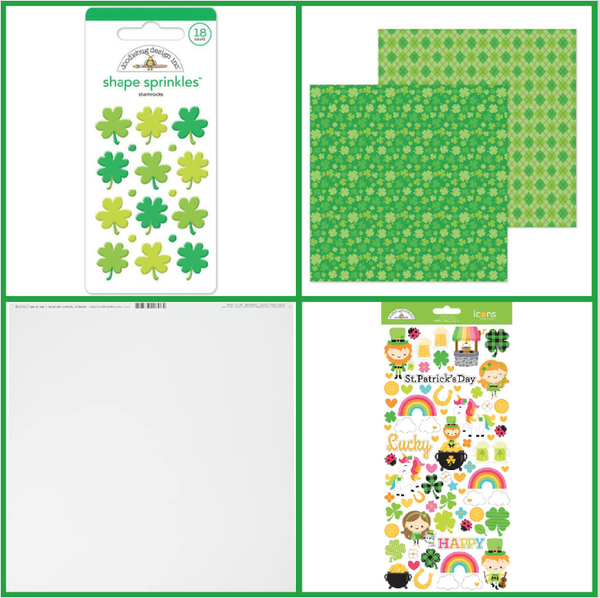 Doodlebug Design St Patrick's Day 6 pc Happy Scrappy Bag