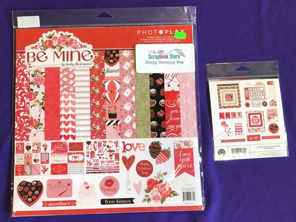 PhotoPlay Be Mine 2 Pc Happy Scrappy Bag