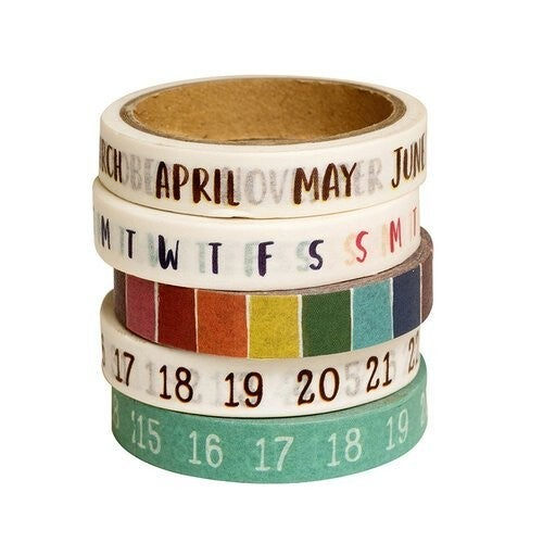 Amy Tangerine Late Afternoon Washi Tape  Calendar