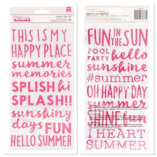 Pebbles Sun & Fun Sunshine Phrase Thickers