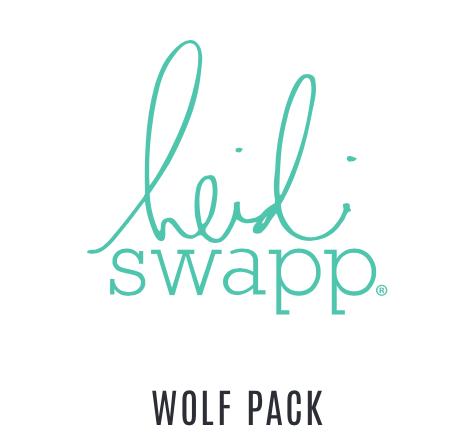 Heidi Swapp Wolf Pack 18 piece Happy Scrappy Bag