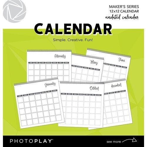 Photoplay 12x12 Spiral Bound Undated Calendar