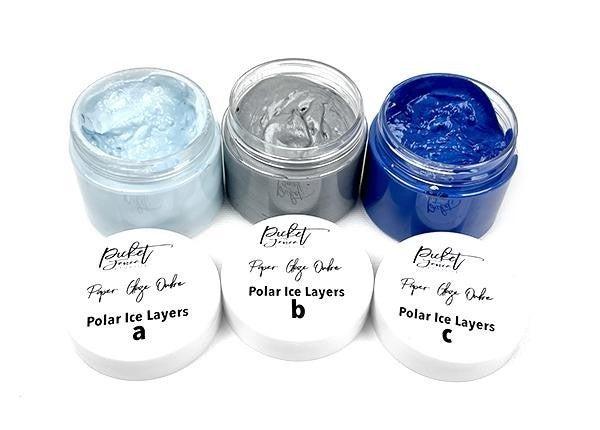 Picket Fence Studios Paper Glaze Ombre - Polar Ice Layers