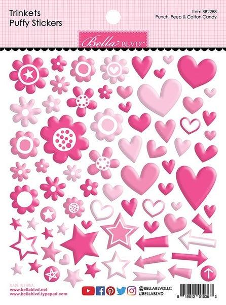Bella Blvd PUNCH, PEEP, & COTTON CANDY Trinkets Puffy Stickers