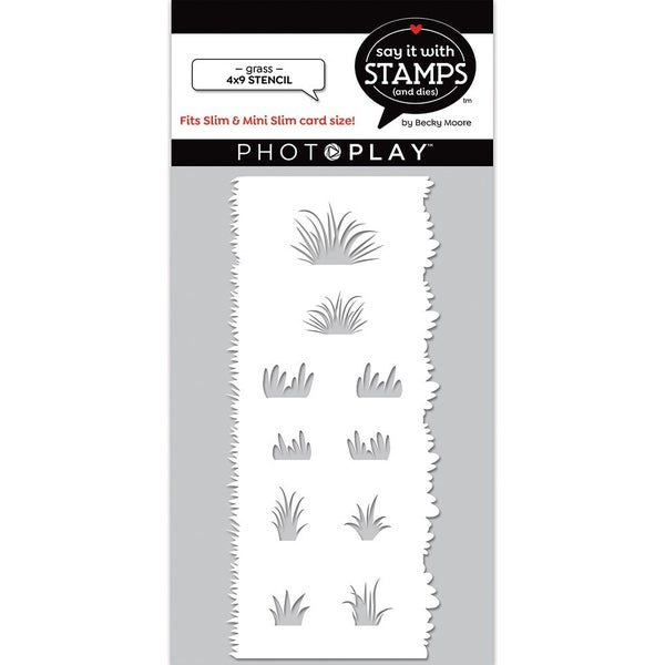 Photoplay Say It With Stamps - Grass Edger Stencil
