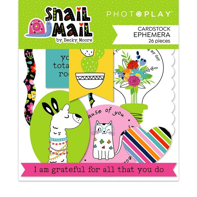 PhotoPlay Snail Mail 2 Pc Happy Scrappy Bag