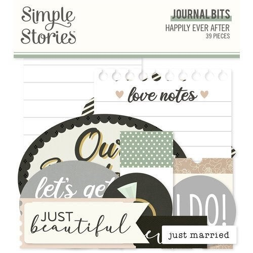 Simple Stories Happily Ever After 6 pc Happy Scrappy Bag