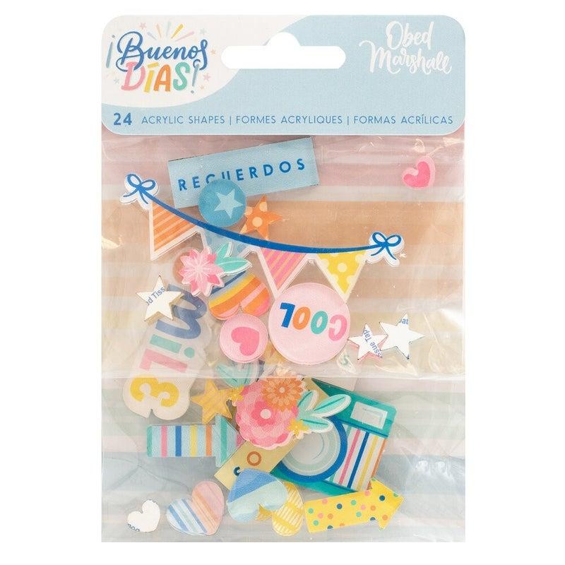 American Crafts Buenos Dias 7 pc Happy Scrappy Bag