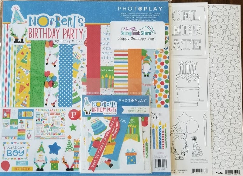 PhotoPlay Norbert's Birthday Party 4 pc Happy Scrappy Bag