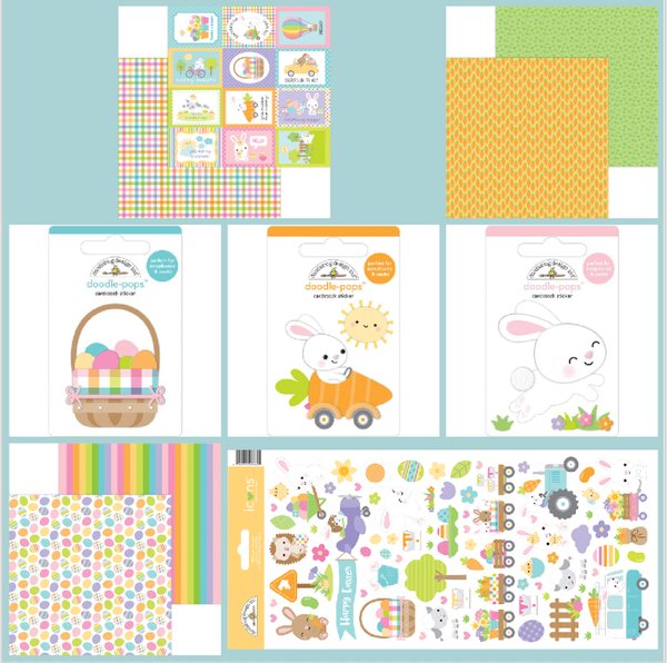 Doodlebug Easter 10 pc Mini Happy Scrappy Bag