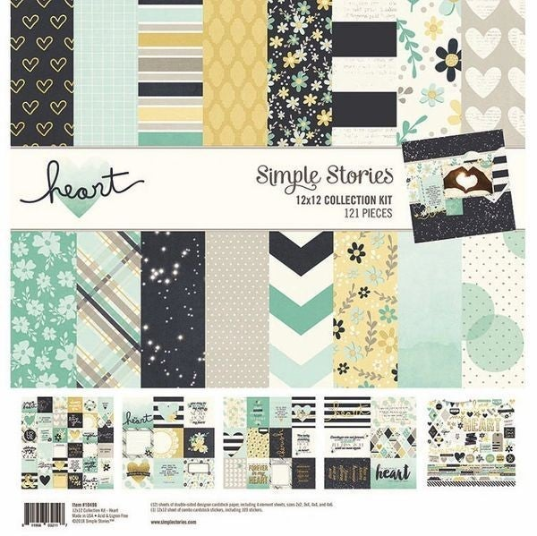 Simple Stories Heart 12 x 12 Collection Kit