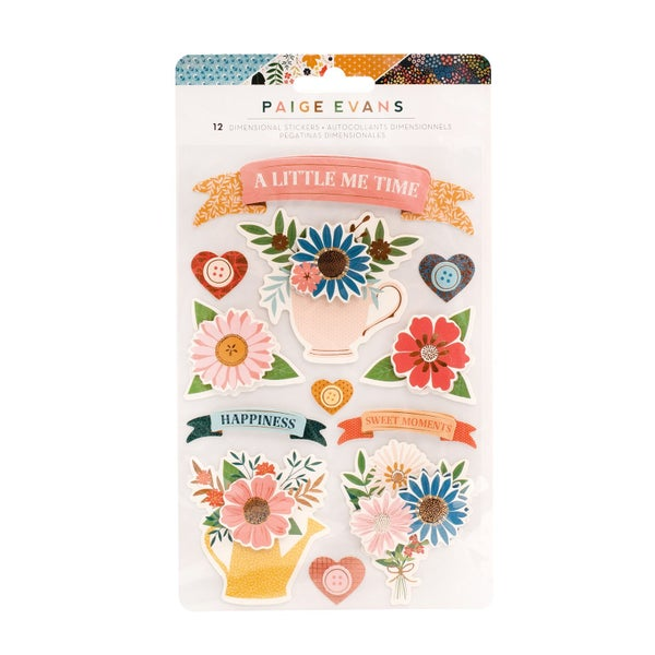 Paige Evans  Bungalow Lane Stickers  Layered Banners with Gold Foil Accents