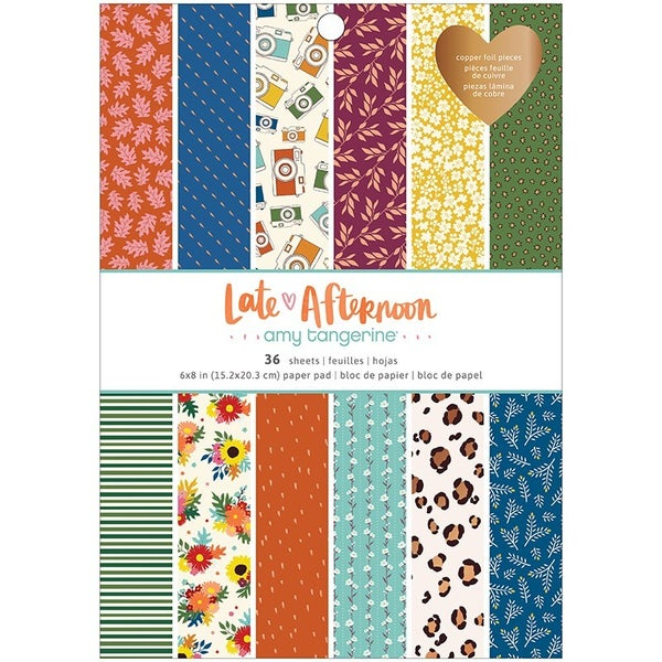 Amy Tangerine Late Afternoon 6 x 8 Paper Pad with Copper Foil Accents