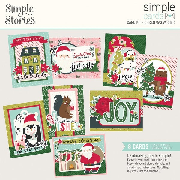 Simple Stories Simple Cards Card Kit Christmas Wishes with envelopes