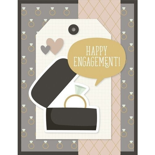 Simple Stories Happily Ever After Collection -Card Kit - Just Married WITH envelopes