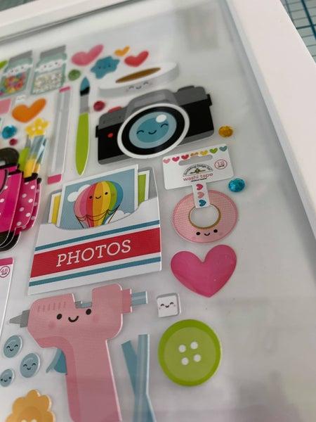 "Doodlebug Design ""Cute & Crafty"" Shadow Box Insert Kit Class with Heather Balzer"