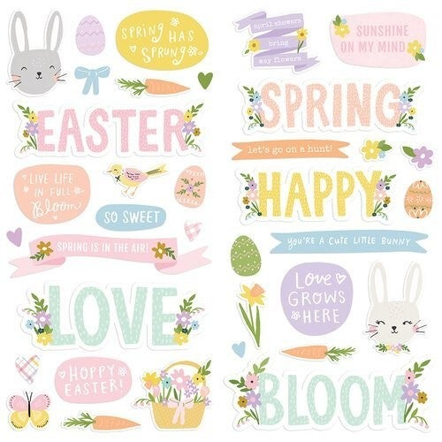 Simple Stories - Bunnies and Blooms  Foam Stickers