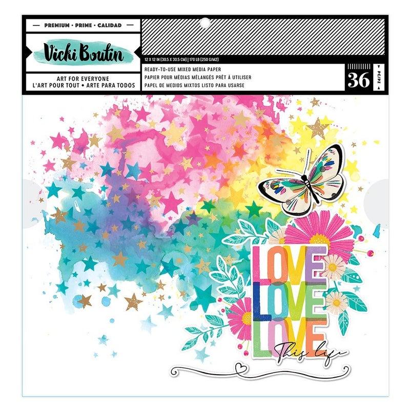 Vicki Boutin Color Study  12 x 12 Mixed Media Paper Pad